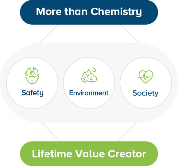 more than chemistry - safety, environment, health - lifetime value creator